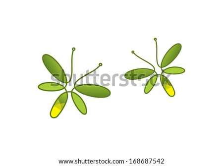 abstract firefly vector