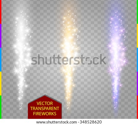 abstract firework set vector