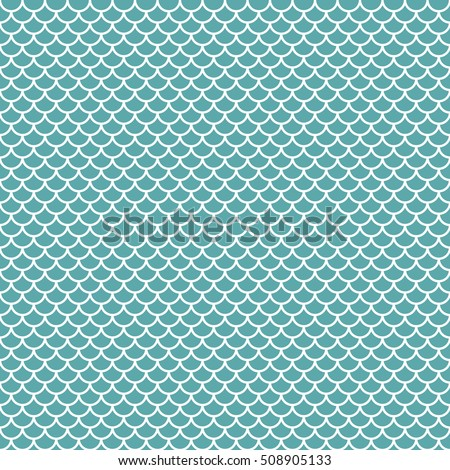 Abstract fish background in simple style. Vector seamless pattern with geometric figures. Hipster filling. The color image. The composition of scales. Multipurpose background. Beautiful and cute print