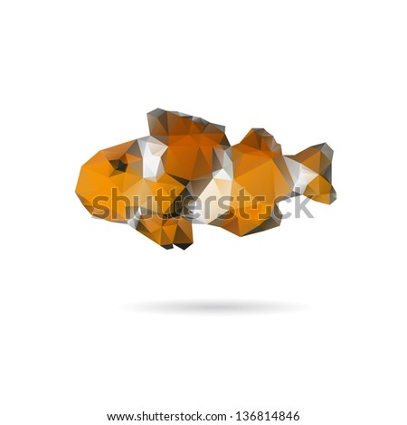 Abstract fish isolated on a white backgrounds