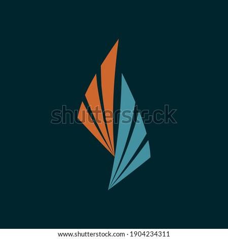 abstract flame logodecorative