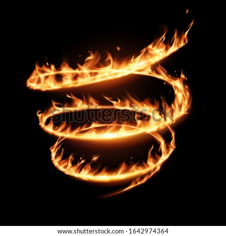 abstract flame spiral whirl on