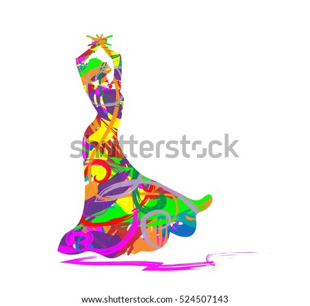 abstract flamenco dancer