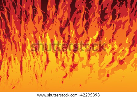 Abstract Flames Texture Background. Editable Vector Image