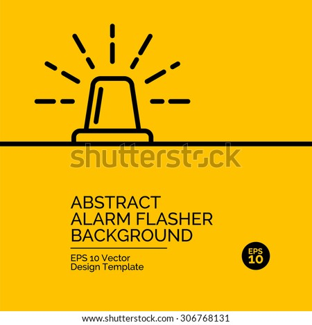 Abstract flat design concept with flasher illustration on yellow background. Vector collection