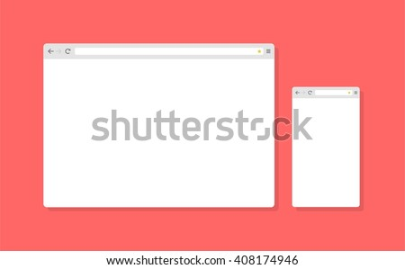 Abstract flat design vector smartphone, tablet, desktop browser