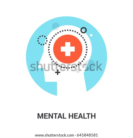 Abstract flat line vector illustration of hospital icon concept