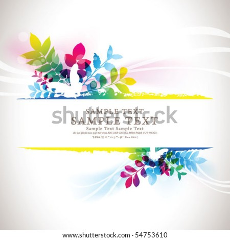 abstract flora background 12 - stock vector