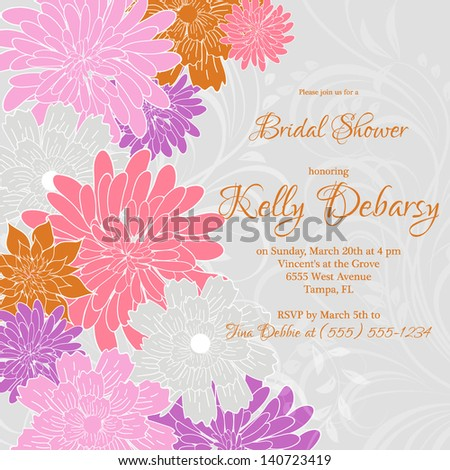 Abstract floral background #140723419