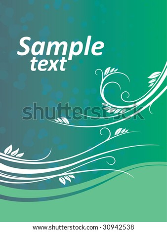 Abstract floral background #30942538