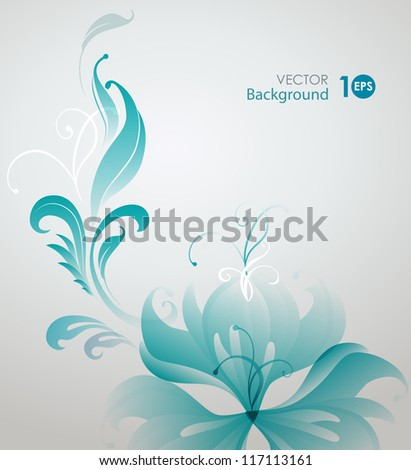 Abstract floral background. Vector eps 10.