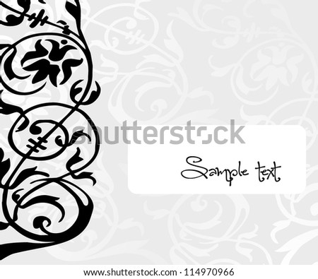 Abstract floral background/Vector illustration