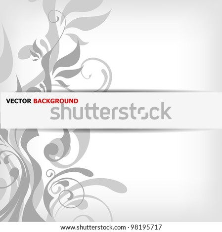 abstract floral background with place for your text - vector illustration