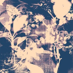 abstract floral background with silhouettes of houseplants. vector illustration.