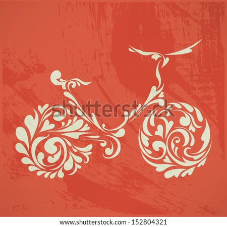 abstract floral bike