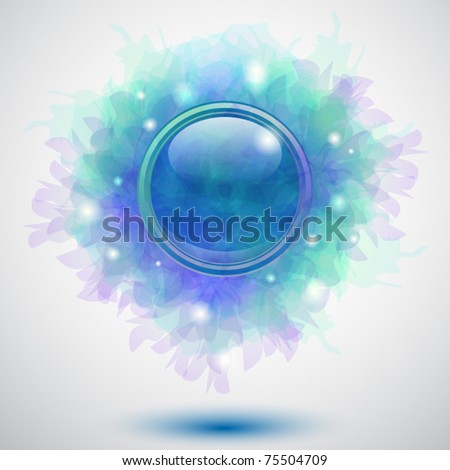 Abstract floral button background