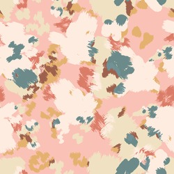 Abstract floral camouflage. Seamless pattern.Modern animal skin pattern with flower shapes . Creative  contemporary floral seamless pattern.