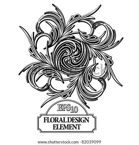abstract floral design element