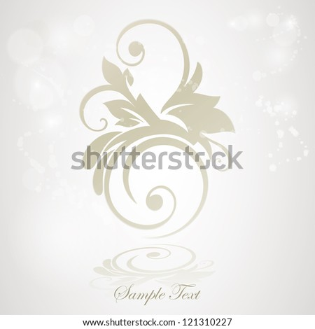 Abstract floral design. Vector illustration. Elegance emblem.