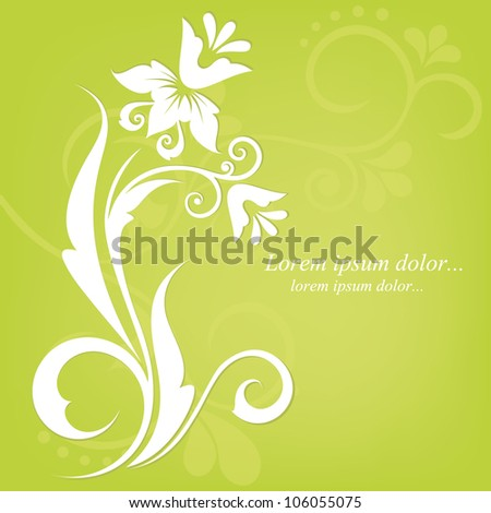 Abstract floral design. Vector illustration. Flora background. Flower pattern.