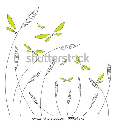 abstract floral design with