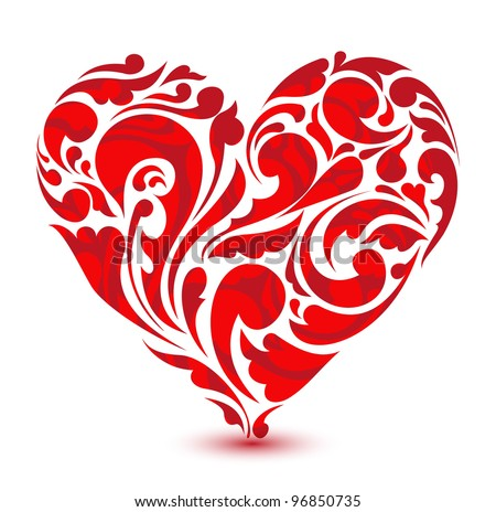 abstract floral heart love