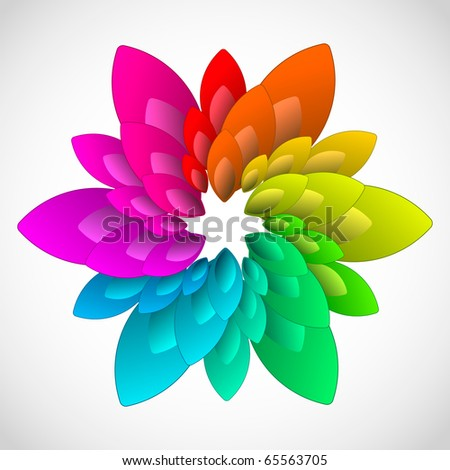 Abstract floral illustration.