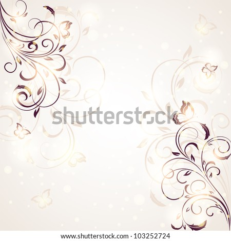 Abstract Floral ornament for decor, Illustration.Summer background
