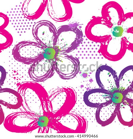 abstract floral pattern for