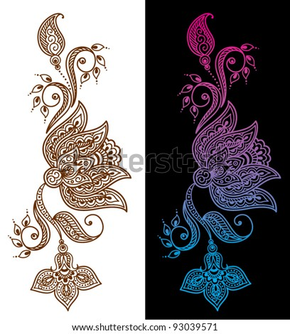 Abstract floral pattern or tattoo