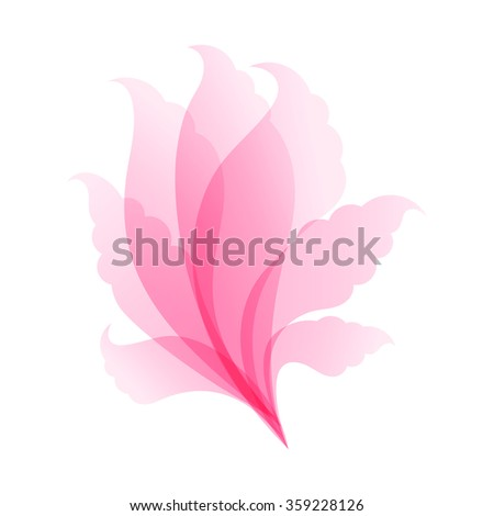 Abstract floral pink spa pattern