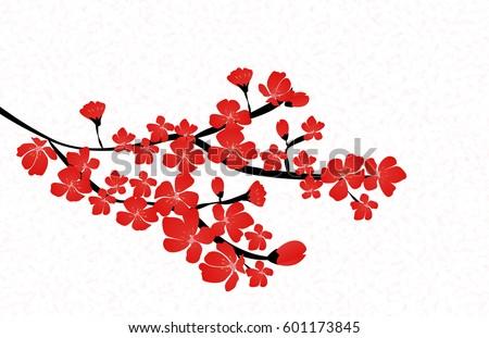 abstract floral sakura flower