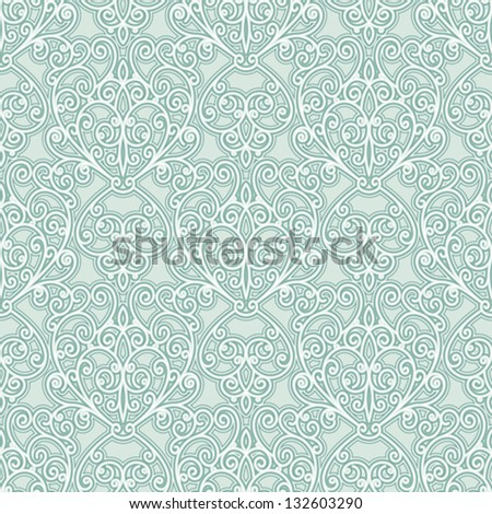 Abstract floral seamless pattern, vector decorative background