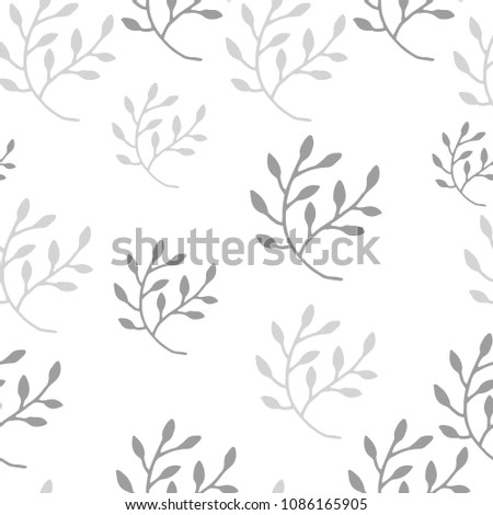 Abstract floral seamless pattern with trendy hand drawn textures