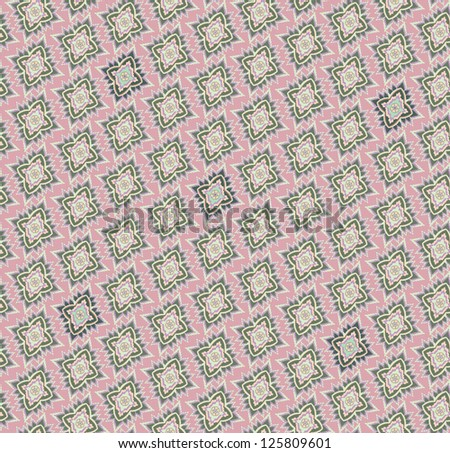 Abstract Floral Seamless Vector Background Texture. Seamless pattern with lightning ornament on pink background