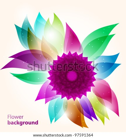 Abstract floral spring background. Vector illustration