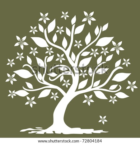 abstract floral tree, symbol of nature