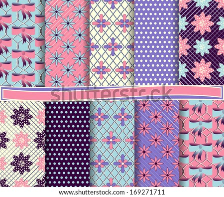 abstract floral vector set of paper scrapbook #169271711