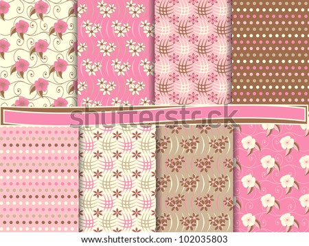 stock-vector-abstract-floral-vector-set-of-scrapbook-paper