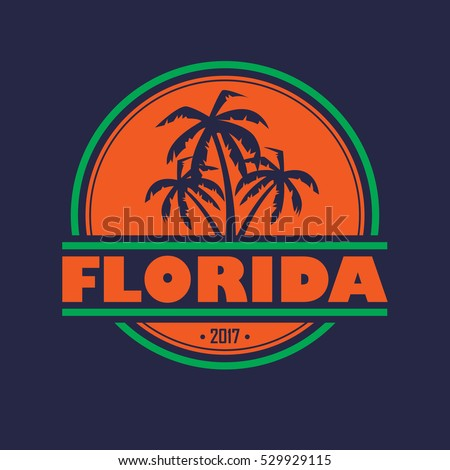 abstract florida symbol with