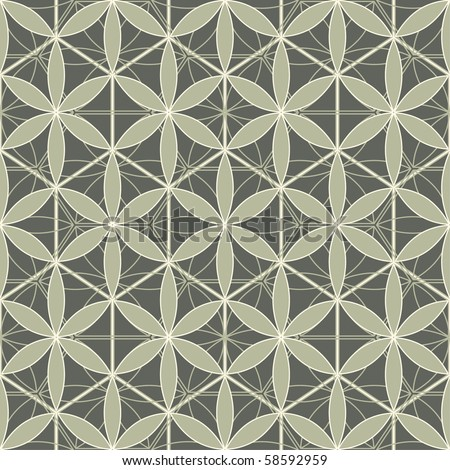 abstract florwers lattice in pattern