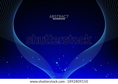 Abstract flow line digital technology, smooth particle wave, big data techno, design concept background and wallpaper, vector eps  Stockfoto ©