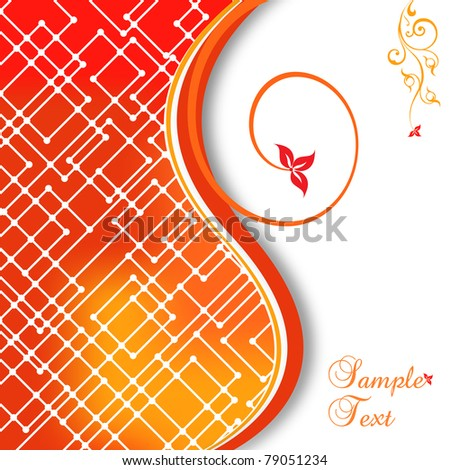 Abstract flower and mosaic vector