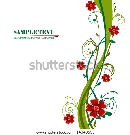 Abstract flower background, element for design