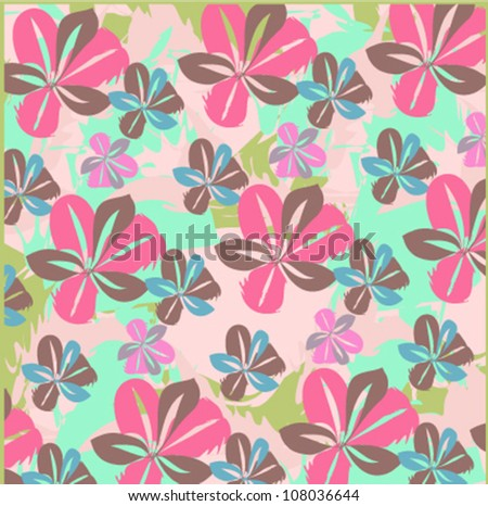 Abstract flower background. Seamless pattern. flower vintage style