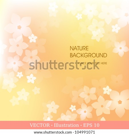 Abstract flower background. Vector illustration.