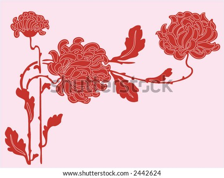 Abstract flower background  - vector illustration.