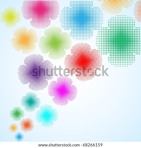 abstract flower background, vector illustration