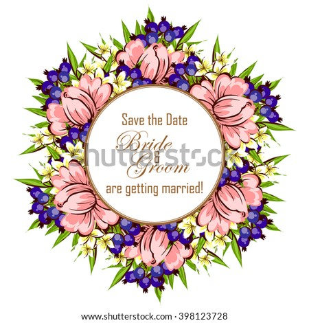 Abstract flower background with place for your text #398123728