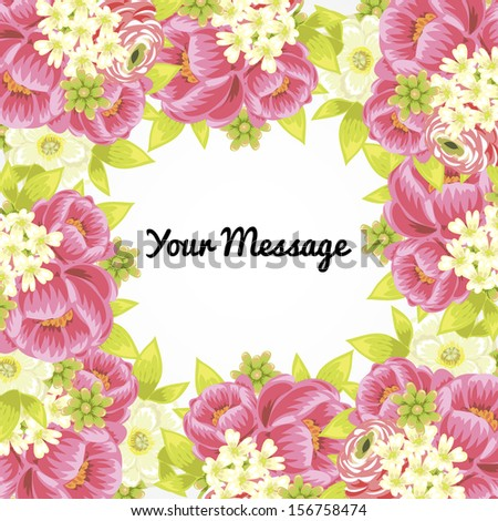 Abstract flower background with place for your text. Vector file has few layers for easy using.